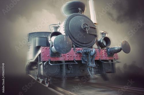 Obraz pociąg  zabytkowa-lokomotywa-parowa