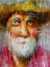 Old Man Face Portrait Painting