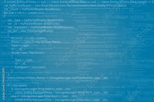 Fotografía  Program code background
