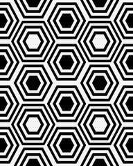 Fototapeta Skandynawski Abstract black and white background, seamless vector pattern
