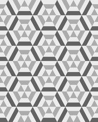 FototapetaGeometric gray hexagon seamless pattern, vector