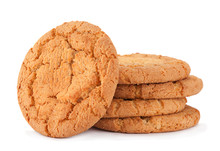 Baked Biscuit On White