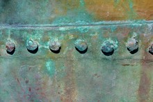 Corroded Copper Container