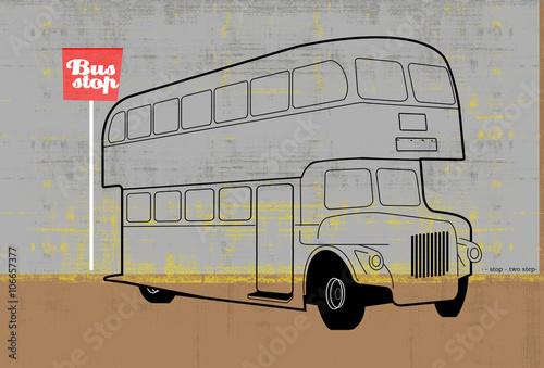 Fotografie, Tablou  double dekker bus