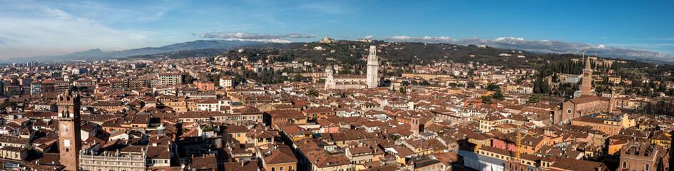 Fototapeta Panorama Miasta Panoramica di Verona