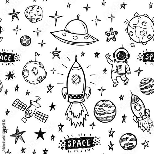 wektor-doodle-przestrzeni-wzor