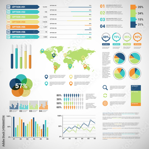 Business infographic 052 Wall mural