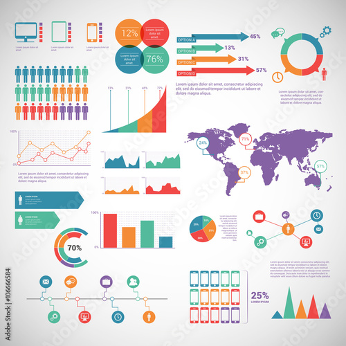 Business infographic 045 Wall mural