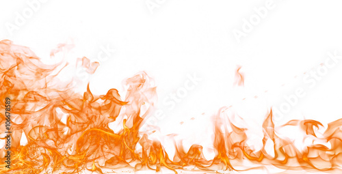 Canvas Prints Fire / Flame Fire flames on white background