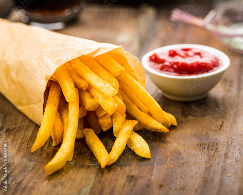 Deurstickers Klaar gerecht Pommes frites