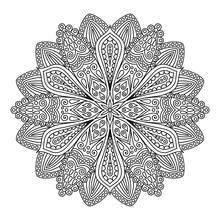 Intricate Flower Coloring Page