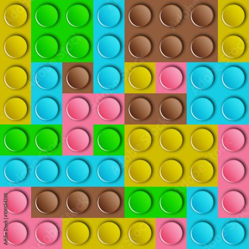 Obrazy wieloczęściowe konstrukcja z tworzyw sztucznych w kolorach brązu, żółtego, niebieskiego, zielonego i różowego
