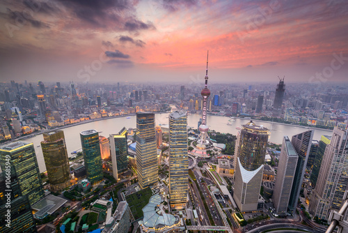 Plakat Shanghai China Cityscape
