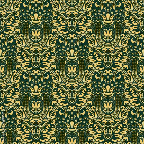 barokowy-bezszwowy-deseniowy-powtarzalny-tlo-zloty-zielony-kwiatowy-ornament-z-litera-u-i-korona-w-stylu-barokowym-antyczna-zlota-powtarzalna-tapeta