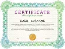 Certificate Template With Guil...