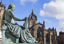 David Hume Statue And St Giles...
