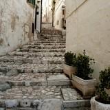 Fototapeta Alley - Brukowa ulica