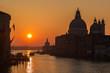 Sunrise on Grand Canal in Venice