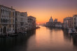 Sunrise on Grand Canal in Venice