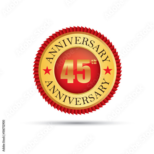 45 years anniversary logo Poster