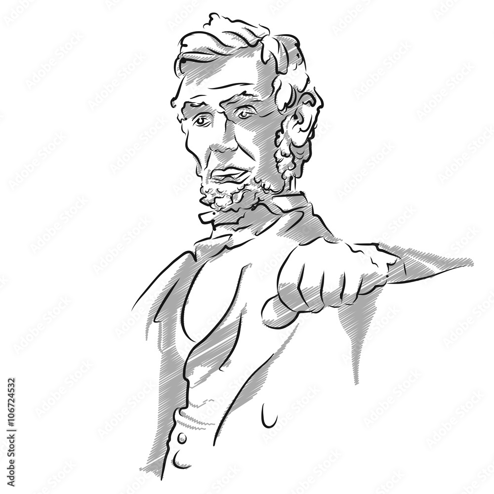 Foto  Abraham Lincoln Memorial Sketch