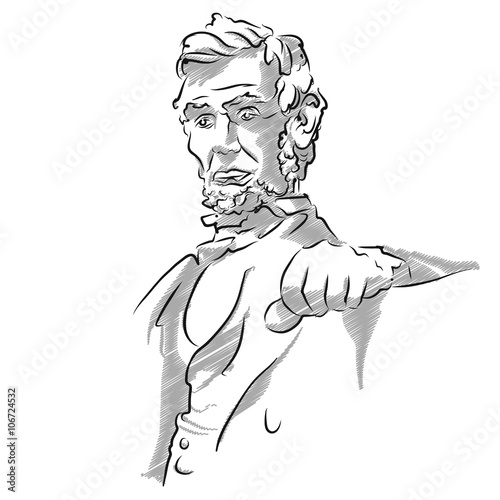 Abraham Lincoln Memorial Sketch Poster