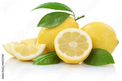 Fotografia  Zitrone Zitronen Früchte Freisteller freigestellt isoliert