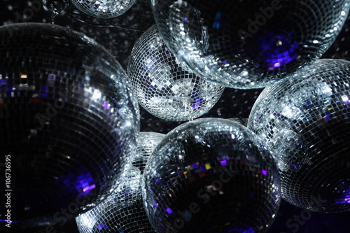 Disco balls in dark Tablou Canvas