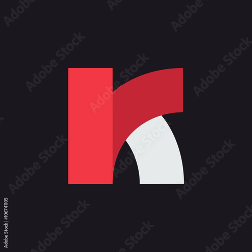 K Letter Logo Design Template Graphic Alphabet Symbol For Corporate