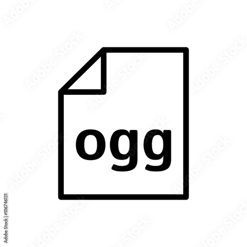 Ogg file icon  Audio file format - Buy this stock vector and