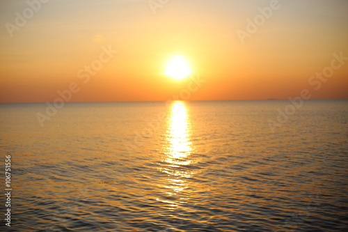 Poster Mer coucher du soleil sunset and sea