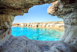 Fototapeta Natura - Beautiful cliffs and arches in Aiya Napa, Cyprus