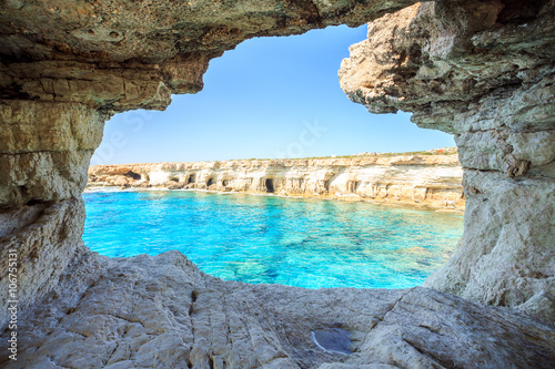 Spoed Foto op Canvas Cyprus Beautiful cliffs and arches in Aiya Napa, Cyprus