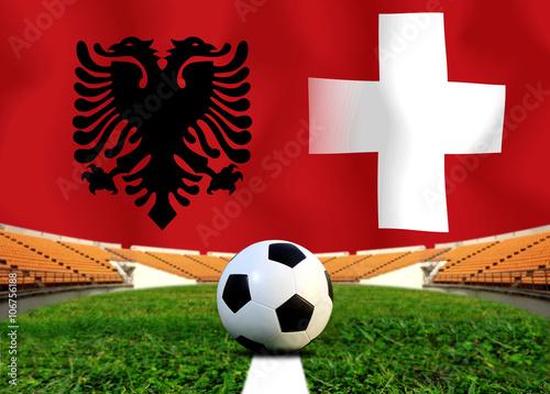 Soccer Euro 2016 ( Football )  Albanai  and Switzerland Poster