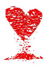 Shattered Lovers Heart