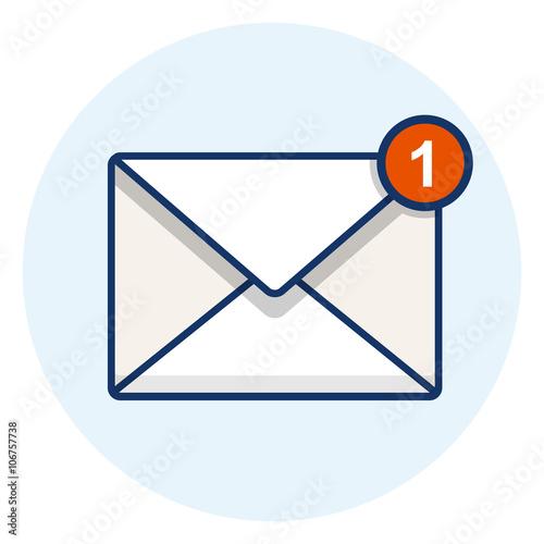 Fotografie, Obraz  Vector Email Icon