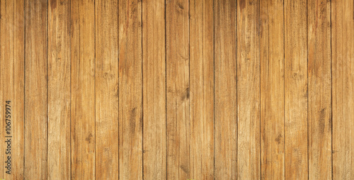 Tuinposter Hout green grass and leaf plant over wood fence background