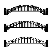 Vector Metal Sydney Harbour Bridge Black Symbol