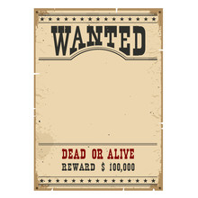 Wanted Poster.Western Vintage ...