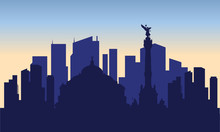 Silhouette Of Mexico City