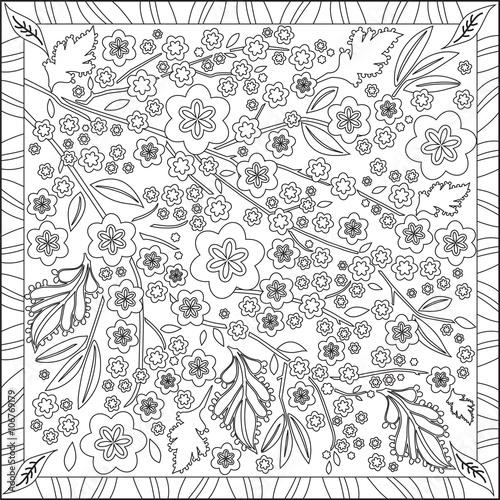 Page Coloriage Pour Adultes Livre Design Motif Fleurs
