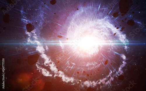 Starfield in deep space many light years far from the Earth Fototapeta