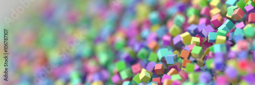 Abstract cubes three dimensional background