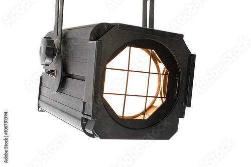 Fotografie, Obraz  Lightspot for stage on white background