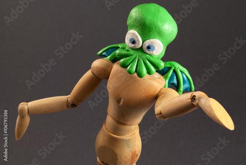 Photo  Cthulhu wooden dummy.