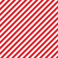 Abstract Geometric Diagonal Striped Pattern With Red And White Stripes.
