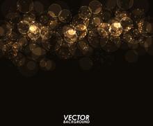 Abstract Modern Gold Bokeh Digital - Vector Background.