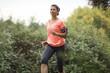 Woman having a workout
