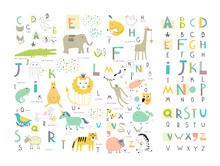 Cute Zoo Alphabet With Funny A...