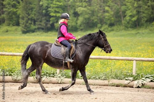 Fotografie, Obraz  Reitübung mit Pony